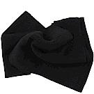 COACH經典C LOGO針織羊毛圍巾(灰黑)