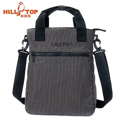 【hilltop山頂鳥】10L三用背包T28X11黑格紋