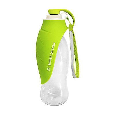 摩達客-Super SD Pets寵物樹葉折疊餵水器/600ml水壺(綠色)