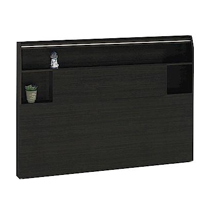 綠活居 艾麗6尺木紋雙人加大床頭片(四色)-183x10x110cm-免組