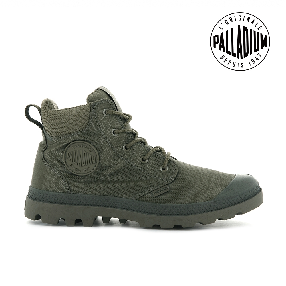 PALLADIUM PAMPA CUFF RCYCL WP+再生纖維中筒防水靴-男-灰綠