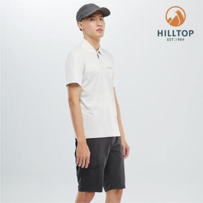 【hilltop山頂鳥】男款吸濕快乾抗菌POLO衫PS14XMH8ECKZ科技灰