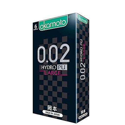 okamoto岡本-002L水感勁薄保險套舒適尺碼(6入)
