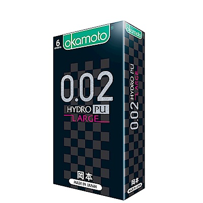 okamoto岡本-002L水感勁薄保險套大碼(6入)