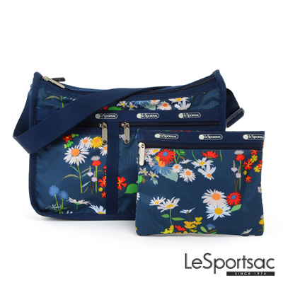 LeSportsac - Standard雙口袋A4大書包-附化妝包 (小雛菊)
