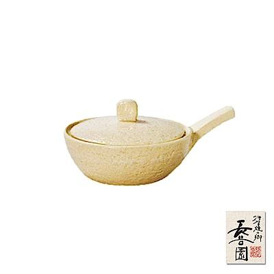 日本長谷園伊賀燒 手掌型迷你煎烤鍋(米色)-小10.5cm