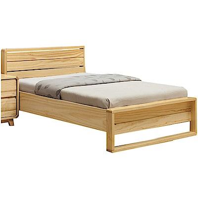 綠活居 普利斯時尚3.5尺實木單人床台(不含床墊)-113x196x82cm免組