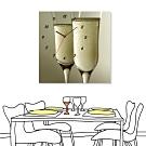 [全新展示品] 24mama掛畫 單聯式 香檳 時鐘掛畫 無框畫 50x50cm