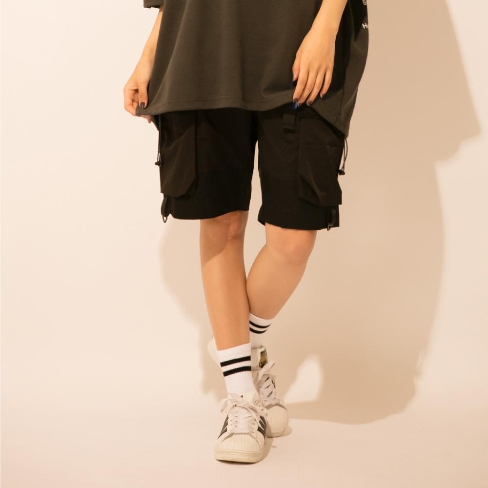 LAKING潮流織帶扣環工作短褲