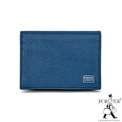PORTER - 自信魅力REGAL真皮名片夾 - 藍