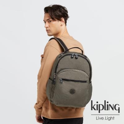 Kipling 炭焙濃韻綠機能手提後背包-SEOUL