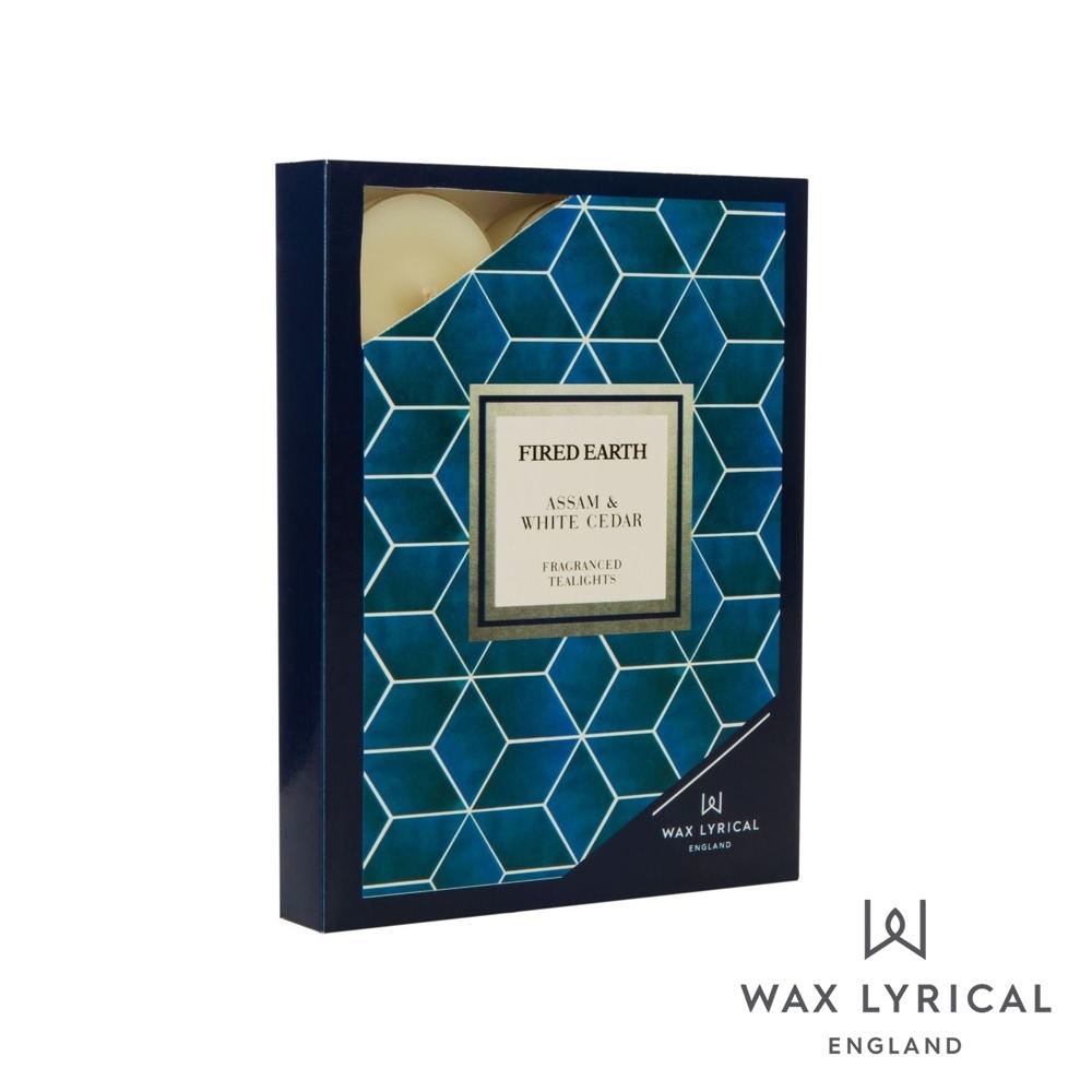英國 Wax Lyrical 大地系列香氛蠟燭-雪松阿薩姆 Assam & White Cedar 12入茶燭
