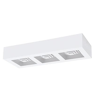 EGLO歐風燈飾 時尚白LED三燈式吸頂燈