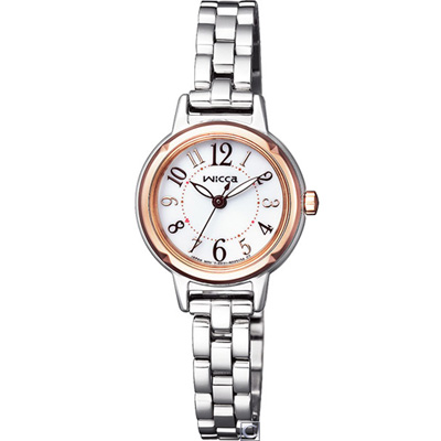 CITIZEN 星辰 wicca 漾動甜心時尚腕錶(KP3-619-11)24mm