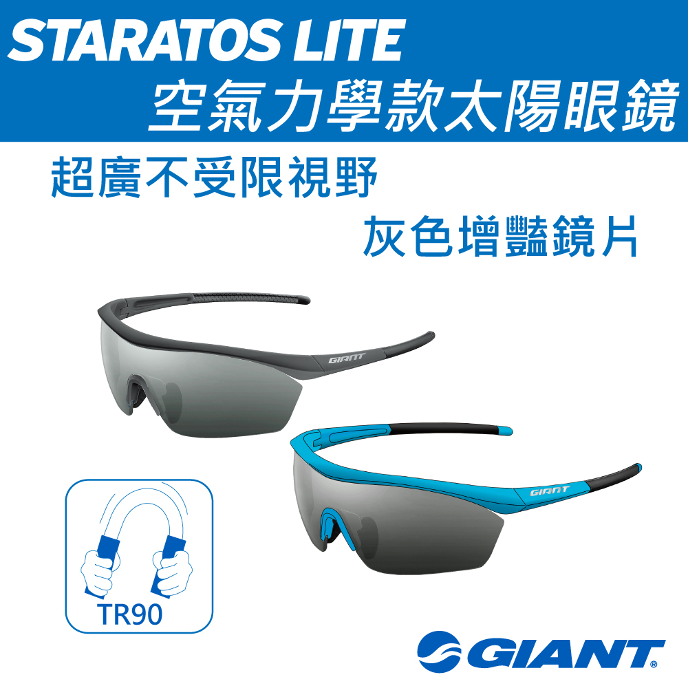 GIANT STRATOS LITE 空氣力學款太陽眼鏡 灰色增艷鏡片