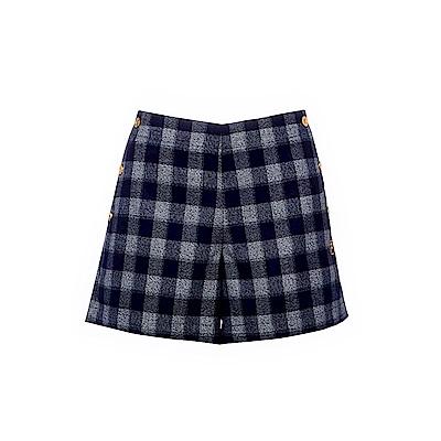 FILA 女款平織短褲-丈青 5SHS-5713-NV