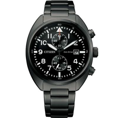 CITIZEN Eco-Drive 飛行員系列計時腕錶(CA7047-86E)