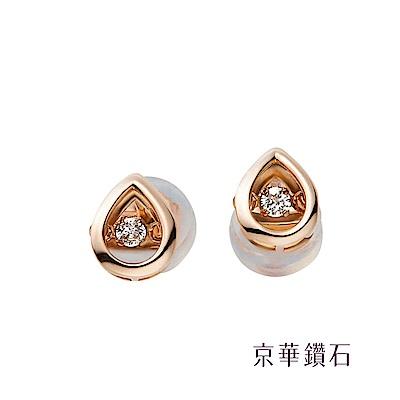 京華鑽石 18K玫瑰金 Dancing Diamond 跳舞鑽石耳環