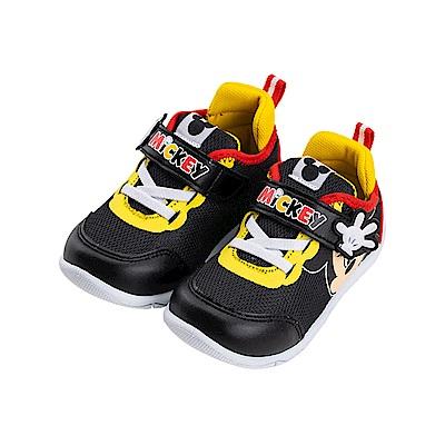 迪士尼童鞋 米奇 立體透氣魔鬼氈運動鞋-黑