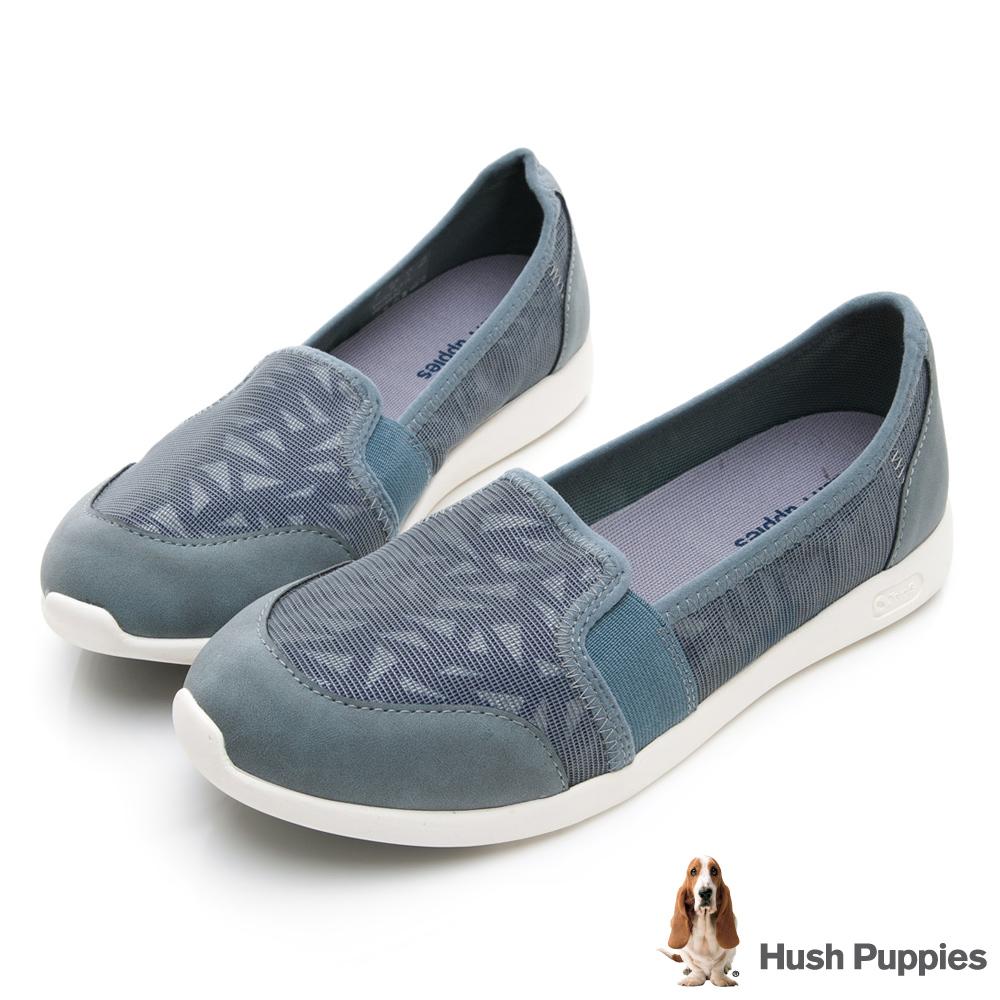 Hush Puppies 玩色人氣款輕量便鞋-湖藍
