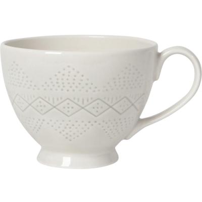 《NOW》寬口陶製馬克杯(象牙米470ml)