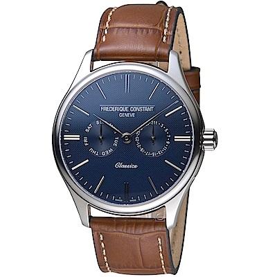 康斯登CONSTANT經典日期紳士腕錶(FC-259NT5B6)-藍