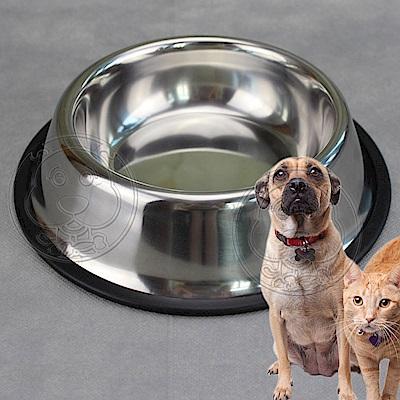 dyy》寵物碗不銹鋼耐摔防滑餵食飲水碗-小直徑16cm