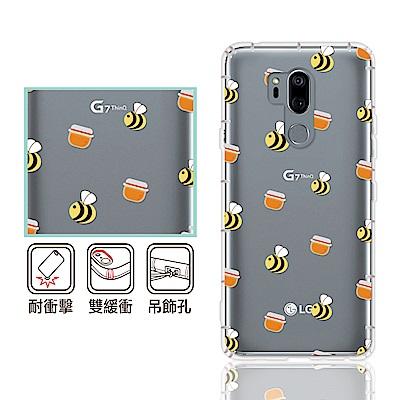 反骨創意 LG 全系列 彩繪防摔手機殼-歪瘋系列(小蜜蜂)