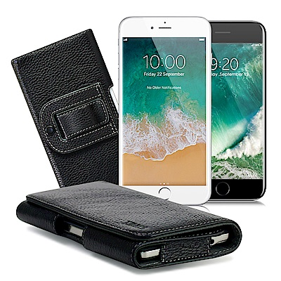 Xmart iPhone 7 plus/8 plus 5.5吋麗緻真皮腰掛皮套