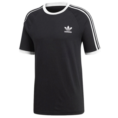 adidas 短袖上衣 運動 休閒 路跑 健身  男款 黑 CW1202 3-STRIPES TEE