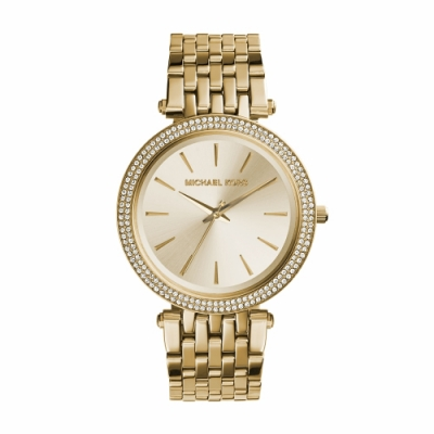 MICHAEL KORS時尚紐約風金色腕錶/MK3191