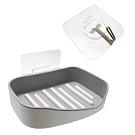 廚衛精選組 無痕貼 加大可分離肥皂盒 + (5入)強力無痕掛勾