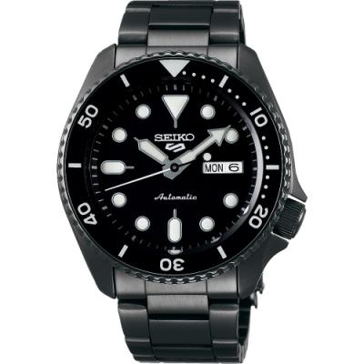 SEIKO 精工 5 Sports 系列機械錶(SRPD65K1)-鍍黑/42.5mm
