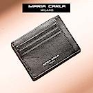 MARIA CARLA  雙面多夾層票夾 小生活系列(皮革黑 )
