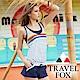 TRAVEL FOX夏之戀 大女連身褲二件式泳衣 product thumbnail 1