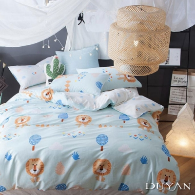 DUYAN竹漾-100%精梳棉/200織-單人床包被套三件組-遇見納尼亞 台灣製