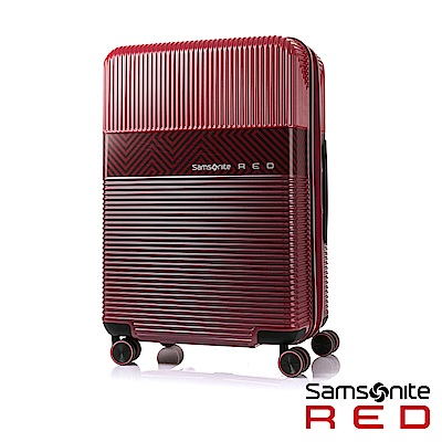 Samsonite RED  24吋ROBOII撞色個性TSA飛機輪行李箱(紅)