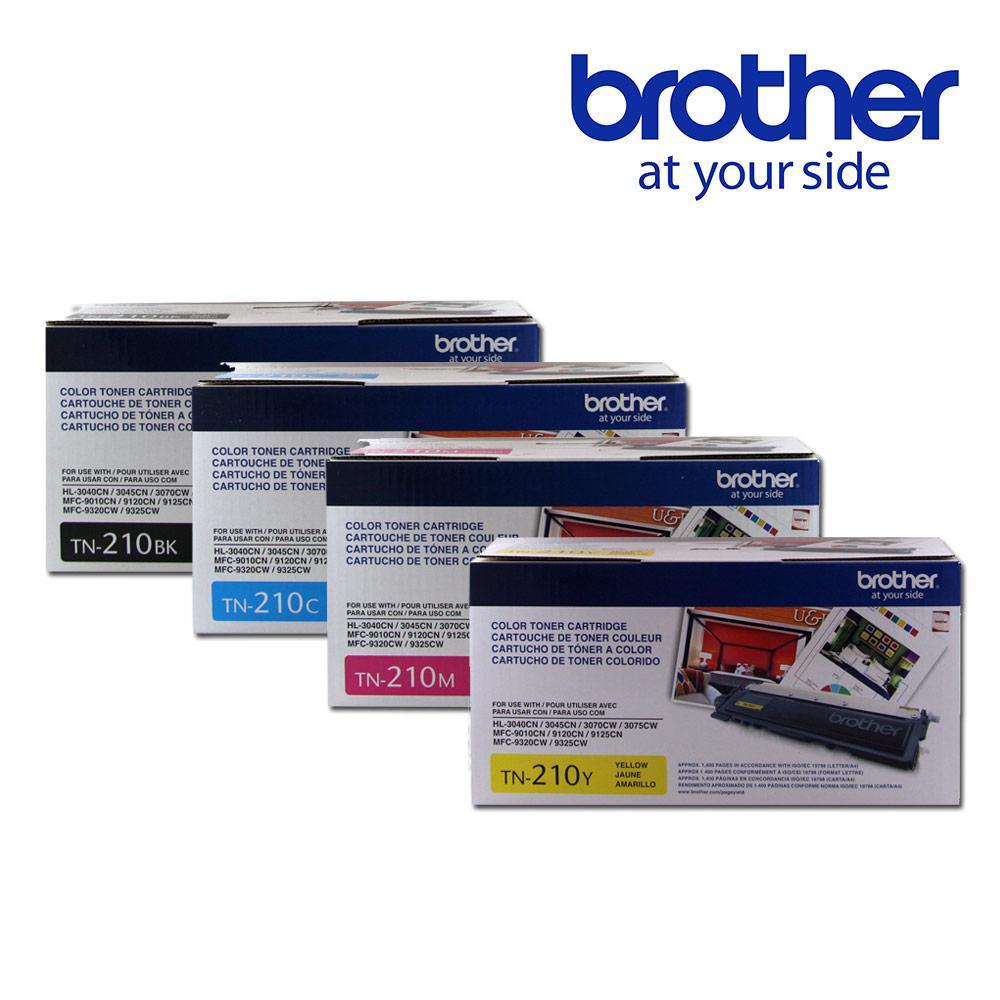 Brother TN-210BK/C/M/Y 原廠碳粉匣(1黑3彩超值組)