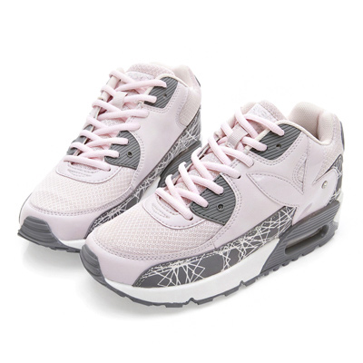 PLAYBOY炫彩行頭 線條氣墊運動鞋-灰粉