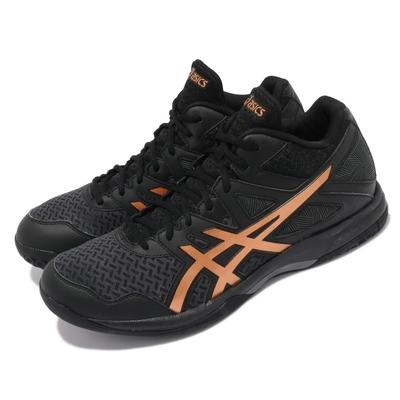 Asics 排球鞋 Gel Task MT 2 運動 男鞋 亞瑟士 透氣網布 緩震 亞瑟膠 黑 棕 1071A036002