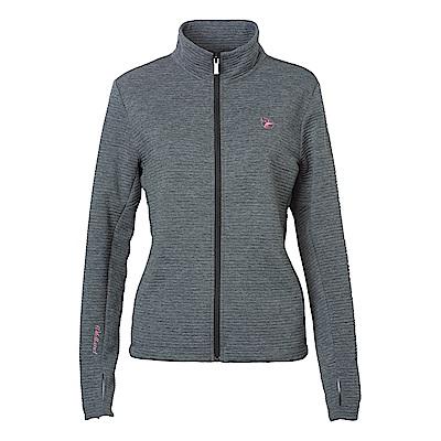 Wildland女彈性針織時尚保暖外套灰色