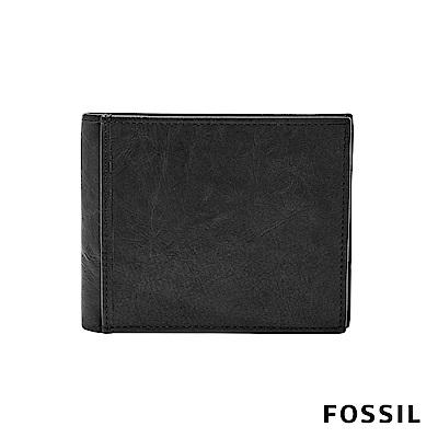 FOSSIL INGRAM真皮商務零錢RFID男夾- 黑色 ML3781001