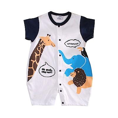動物印花短袖連身衣 k51105 魔法Baby