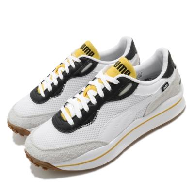Puma 休閒鞋 Style Rider 運動 男鞋 基本款 舒適 麂皮 球鞋 穿搭 簡約 白 黃 37338203