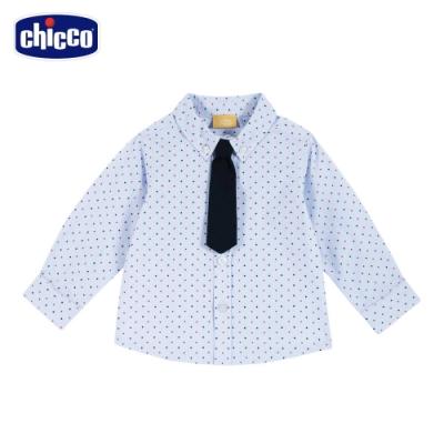 chicco-英倫衛兵-領帶點點長袖襯衫