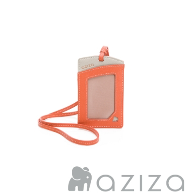 aziza 直式三卡層證件套 珊瑚紅