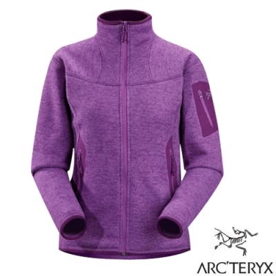 始祖鳥 Polartec 女 Covert Cardigan Jacket 羽量級保暖刷毛外套_馬鞭紫-