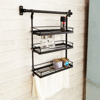 【ikloo】廚房三層吊掛置物架/收納架(無附橫桿)