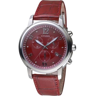 CITIZEN xC 系列花漾年華計時腕錶(FB1430-00W)