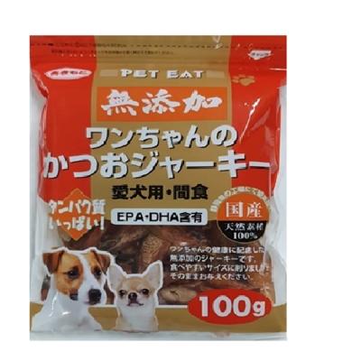 (四包組)PET EAT元氣王-鰹魚肉乾 100g-愛犬用